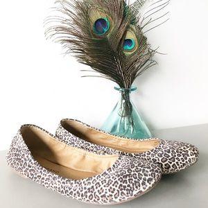 Lucky Brand Emmie Suede Leopard Print Ballet Flat